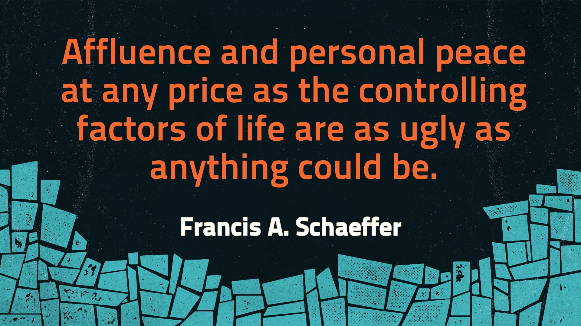 Schaeffer on affluence