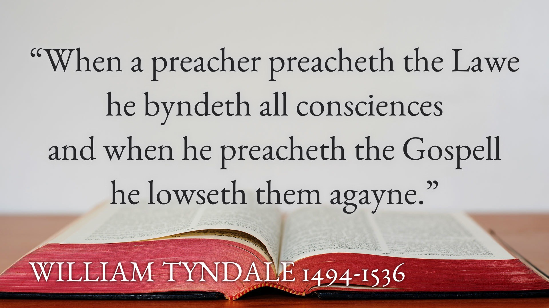 Tyndale on Law
